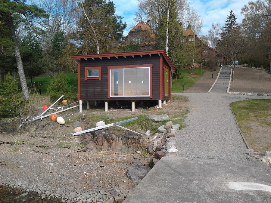 sauna på tomten
