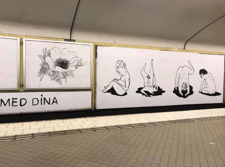 konst tunnelbanan nakna människor SL