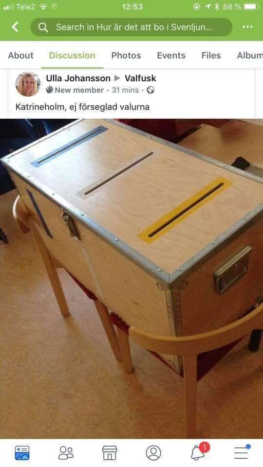 oförseglad valurna_ valurnor valet 2018_valmygel_sverigedemokraterna_